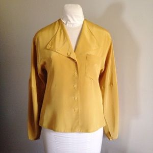 Vintage 80's Does 40's Blouse